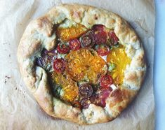 Tomato and cheese gallette