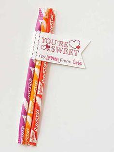 Pixie Sticks Valentine Tag
