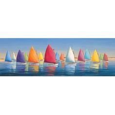 Sailboat Canvas Art  http://www.beachdecorshop.com/Flying-Colors-Wall-Canvas.html