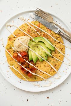 Jumbo Chickpea Pancake – A High Protein, Filling Vegan Breakfast or Lunch! via ohsheglows.com
