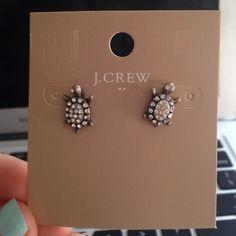 Adorable Turtle Studs Gorgeous new turtle studs earrings J. Crew Jewelry Earrings