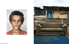 Alex, aged nine, Rio de Janeiro, Brazil: Alex does not go to school and instead spends his time begging on the city streets and stealing. Although he is in contact with his family, he is addicted to sniffing glue and sleeps on the streets. He sleeps on empty benches or a discarded sofa if he can find one ¿ otherwise on the pavement