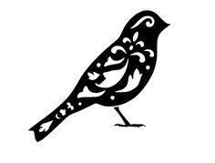 """8.3/11.7"""" Vintage bird design 2 stencil template.  A4."""