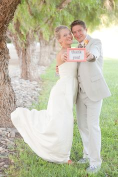 I would like to do something like this   Bride and Groom Thank You Photo