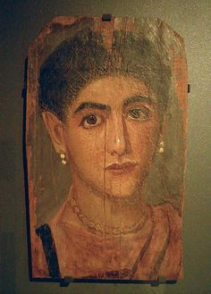 Portrait of a woman Second half of the 2nd century AD, perhaps from Thebes, Louvre Museum