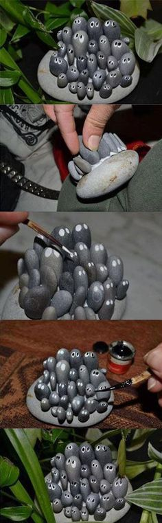 Diy Cute Stone Craft something to make for Maizy's fairy garden-skg