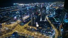 Night view from the top of the Burj Khalifa!