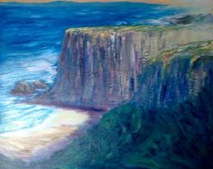 Oil on Canvas Painting Workshop, Cliff, Oil On Canvas, Waves, California, Outdoor, Watercolor Painting, Outdoors, Ocean Waves