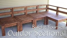 diy outdoor sectional from reclaimed wood