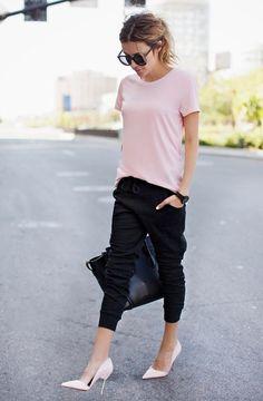 Dressing up track pants.