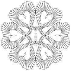 Bobbin Lace Patterns, Crochet Patterns, Spanking Art, Bobbin Lacemaking, String Art Patterns, Lace Heart, Embroidery Motifs, Charts And Graphs, Lace Making