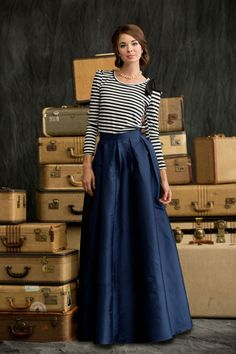 Love this skirt beautiful! Floor Length First Snow Skirt from the Winter Wonderland Collection by Shabby Apple