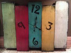Funky pallet wood clock
