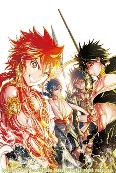 Magi: Labyrinth of Magic Magi: Kingdom of Magic  Alibaba, Judal, Aladdin, Hakuryuu