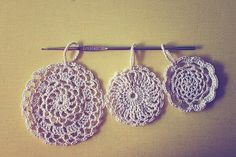Doily Flake ornaments by goodknits   Crocheting Pattern - Looking for your next project? You're going to love Doily Flake ornaments by designer goodknits. - via @Craftsy