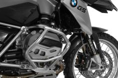 R1200GS Crash Bars, Stainless Steel Finish, complete protection for cylinder head.