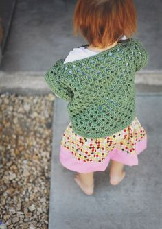 This top is very versatile and can be made in any size and use most any yarn. The pattern starts after working the size of the granny squ...