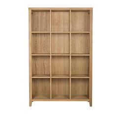 Hadley Bookcase 3x4 Cube  Oak Natural