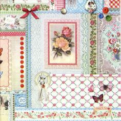 4 x Single Luxury Paper Napkins for Decoupage and Craft Pattern