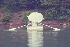 "if you're getting married on a lake, this is an awesome ""just married"" vehicle"