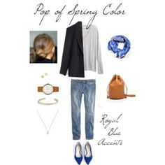 Pop of Spring Color - Royal Blue Accents