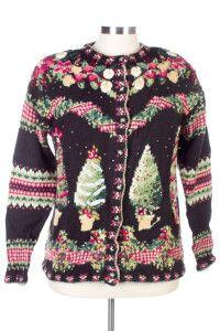 Black Ugly Christmas Cardigan 26497 Ugly Xmas Sweater, Christmas Sweaters, Vintage Sweaters, Black, Women, Fashion, Moda, Black People