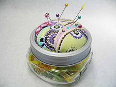 Jar Pincushion!