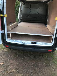 Ford Custom ply lining and raised floor Ford Transit, Van Racking Systems, Van Organization, Van Shelving, Work Trailer, Mobile Workshop, Ford Courier, Van Storage, Van Conversion Interior