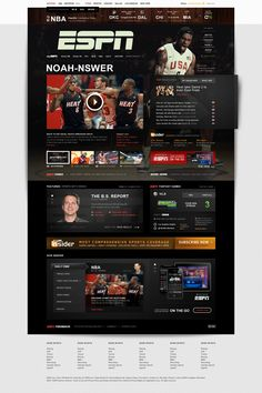 ESPN.com Refresh - Edwin Tofslie | Co-Founder of Built. A Design & Product Company. Product Design, Interactive, Video, Branding, Design, Creative Direction & Strategy