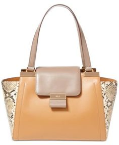 Lauren Ralph Lauren Lynwood Snake-Embossed Carine Shopper Handbags    Accessories - Macy s 0c63fc80f9f56