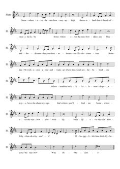 Somewhere Over The Rainbow Flute | MuseScore