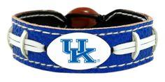 Kentucky Wildcats Team Color Football Bracelet