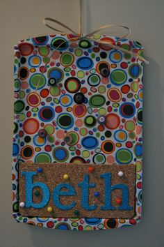 Customized Magnetic Cork Board (for my office) Cookie Sheet Board, Cookie Sheet Crafts, Cookie Sheets, Cork Crafts, Fun Crafts, Arts And Crafts, Dollar Store Crafts, Dollar Stores, Cork Sheet