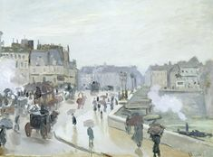 """""""The Pont Neuf,"""" by Claude Monet, 1871. 