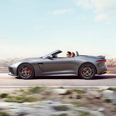 #FTYPE #SVR slices cleanly through the air, achieving rapid acceleration and effortlessly efficient cruising thanks to its advanced #aerodynamic #design. #Jaguar #Convertible #Power #Performance #Carsofinstagram #Carstagram