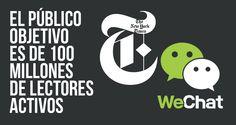 The New York Times anunció hoy que la compañía ha puesto en marcha una cuenta oficial internacional en WeChat, uno de los más populares sistemas de mensajería que hay en la actualidad.