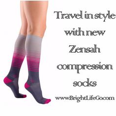 These new Zensah compression socks are a must have for traveling to prevent fatigue, blood clots and restless leg syndrome.