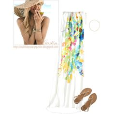 """""""summer color maxi"""" by stacy-gustin on Polyvore"""