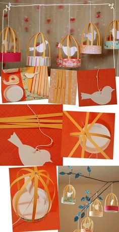 Bird cage More What should remain in the budgerigar cage ? Kids Crafts, Preschool Crafts, Easy Crafts, Diy And Crafts, Arts And Crafts, Diy Party Dekoration, Diy Paper, Paper Crafts, Paper Toys