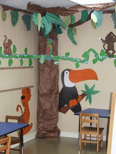 Jungle Safari Theme Classroom | Blessings for Bible School Teachers: Wild About Bible Class Theme