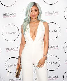 Kylie Jenner's hair transformation! #KylieJenner #hair #bluehair