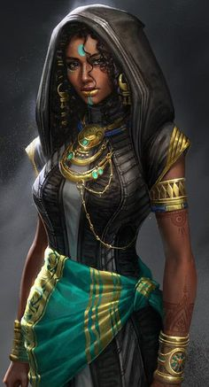 Female darkskin facepaint human elf halfelf hood n Fantasy Character Design, Character Creation, Character Design Inspiration, Character Concept, Character Art, Concept Art, Urban Concept, Dark Fantasy Art, Fantasy Rpg
