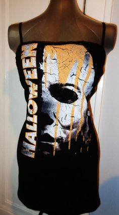 Halloween Michael Myers tunic mini dress made just for you to your size! Come check out all our unique band shirts, horror tops and clothing. Buy me now! :) $29.99