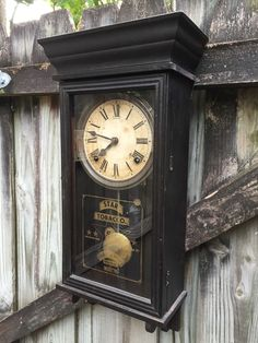 Star Tobacco Antique Miniature Regulator Wall Clock By Sessions