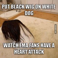 I've seen this too many times.  And it's true.  It does make FMA fans freak out.  Q____Q