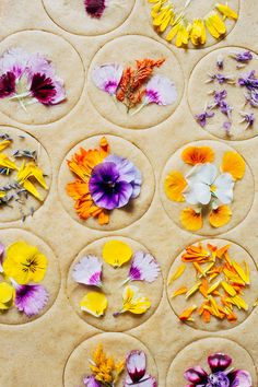 Vegan whole wheat shortbread cookies with three ingredients. Garnished with edible flowers to make a pretty spring dessert.