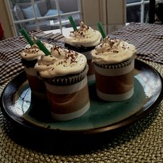 Starbucks inspired cupcakes for my coffee loving husbands birthday