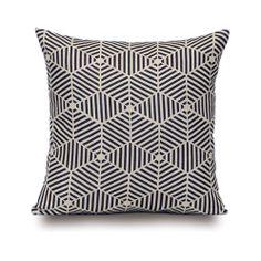 #cojín geométrico blanco & negro