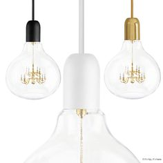 Mini Chandelier Inside Glass Bulb Makes for One Unusual Pendant Lamp.