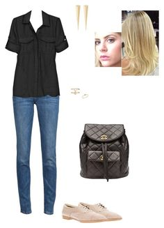 """""""Sem título #2541"""" by gracebeckett on Polyvore featuring moda, Vivienne Westwood Anglomania, Theory, Chanel, Tod's, Accessorize, Elizabeth and James e Anine Bing"""